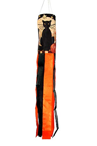 Toland Home Garden 162515 Moonlight Cat Decorative Windsock, -