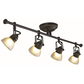 Tucana 4-Light Bronze Fixed Track Bar Light Kit by allen + roth