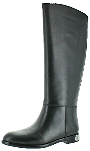 Marc by Marc Jacobs Women's Kip W/Zip Riding Boot, Black, 38.5 EU/8.5 M US by Marc by Marc Jacobs