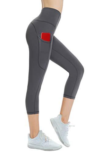 dab945ff818 THE GYM PEOPLE Thick High Waist Yoga Pants with Pockets