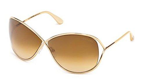 (Tom Ford Sunglasses - Miranda / Frame: Shiny Rose Gold Lens: Brown Gradient)