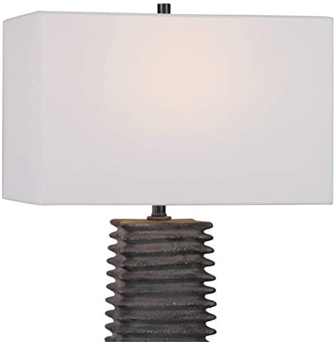 Uttermost Sanderson Table Lamp in Metallic Charcoal