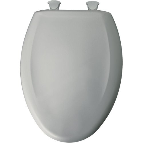 Bemis 1200SLOWT 062 Lift-Off Plastic Elongated Slow-Close Toilet Seat, Ice Grey
