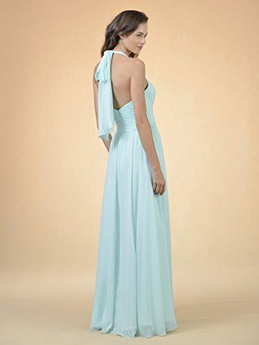 Chiffon Line Bridesmaid Black Women Evening Dress Dress Long for Formal Alicepub Gown Halter A aq811X
