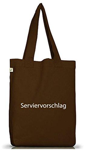 ShirtStreet Jutebeutel Tasche Serviervorschlag Partner Gruppen Kostüm Kellner Koch Bäcker Gastronomie Brown tqWlH