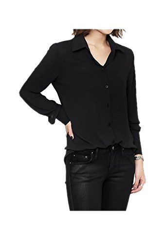 ARJOSA Womens Chiffon Sleeve Button