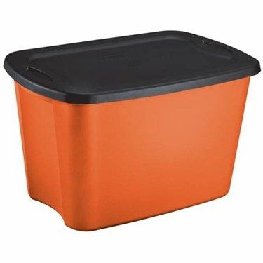 Charmant Sterilite 18 Gallon Orange U0026 Black Storage Tote