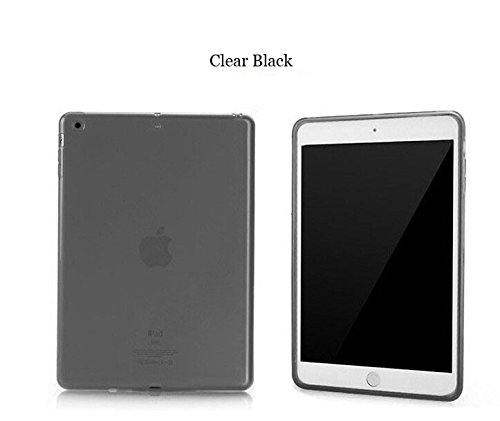 iPad Mini Case, Mocase Ultra-Thin Clear Soft Skin TPU Rubber Gel Protective Case for iPad Mini / iPad Mini Retina (TPU-Black)