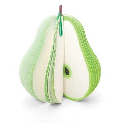 Kikkerland Fruit Memo Pad, Pear