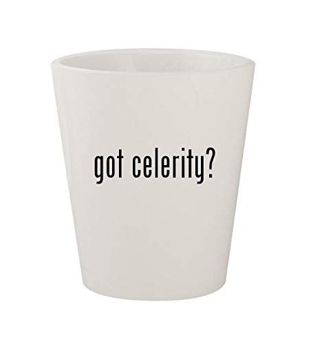 got celerity? - Ceramic White 1.5oz Shot Glass