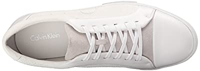 Calvin Klein Men's Igor Leather Smooth Fashion Sneaker
