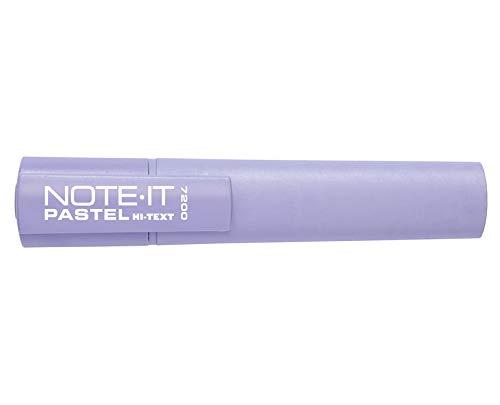 Hi-Text 7200 Note-It busta trasparente 6 evidenziatori punta scalpello colori pastello