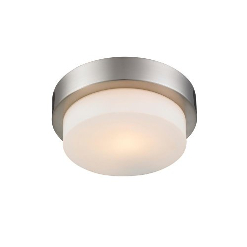 Golden Lighting 1270-09 PW Flush Mount with Opal Glass Shades, Pewter Finish
