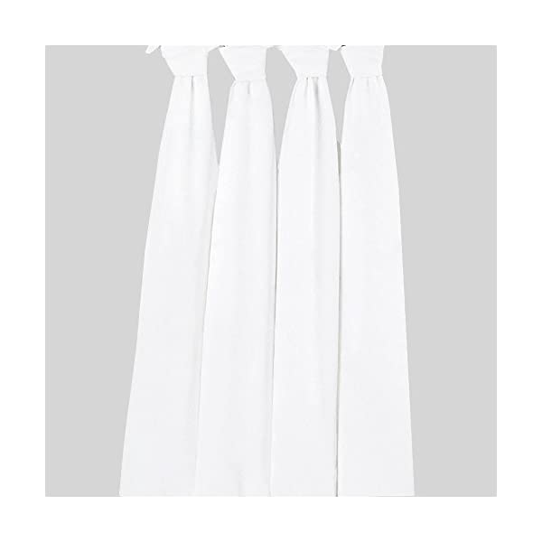 Bacati – Solid Pure White Muslin Swaddling Blankets Set of 4