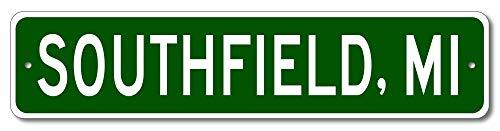Southfield, Michigan - USA City and State Street Sign - Aluminum 4
