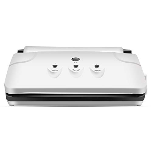 Vacuum Sealer Machine,CamKing VS-2150A Compact Automatic Vacuum Sealing System with Bags -White (VCM-01) (Systems Sealing)