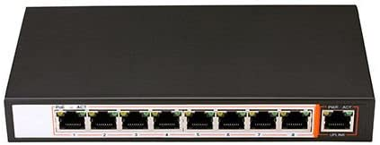 60 W Switch PoE 802.3af 48 V 4 puertas PoE 5 puertas PS104 Power over Ethernet