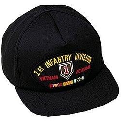 Vietnam Vet Hat Patch - 1st Infantry Division Vietnam Vet Ballcap