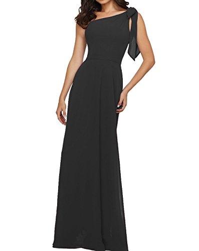Elegant A Line Chiffon Long One Shoulder Bridesmaid Dress Evening Prom Dress at Amazon Womens Clothing store: