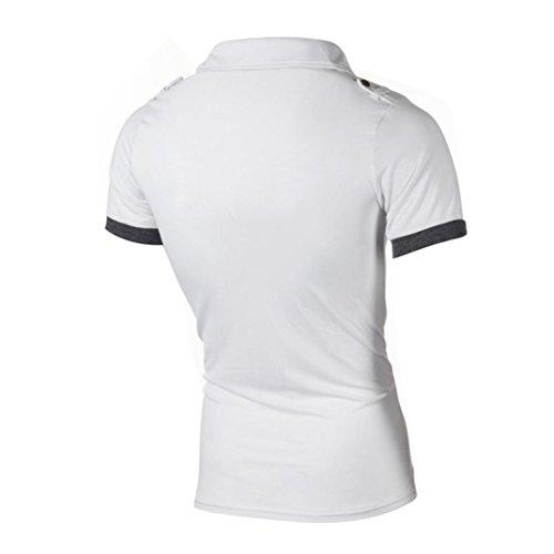 de tops Camisa hombre manga Tee Top para Blanco Aimee7 Casual Polo corta Tops Carta Casual PqnrPgWx5w