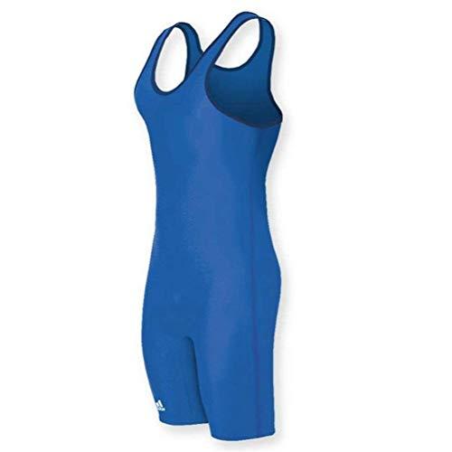 adidas Solid Stock Wrestling Singlet - SIZE: L, COLOR: Royal Blue