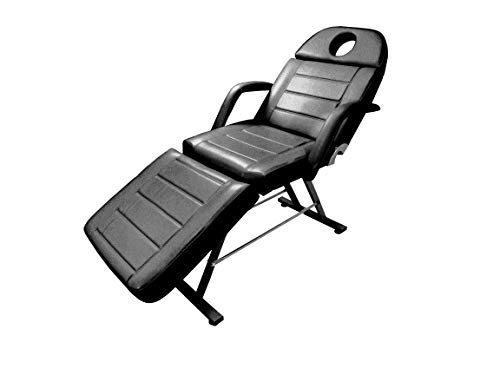 Adjustable Reclining Salon Massage Chair with Memory Foam Cushions (Black), Great as Facial Bed, Massage Table, Tattoo Chair, Lash Chair, or General Salon Chair, Esthetics Furniture – eMark Beauty