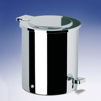 Waste Basket with Foot Pedal Color: Chrome and Gold