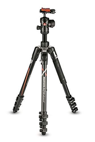 Manfrotto MKBFRLA-BH Befree Advanced - Trípode de Viaje, Bloqueo por Palanca con rótula de Bola y Bolsa para cámaras sin Espejo Sony, DSLR, CSC, Carga máxima 8 kg, Aluminio Ligero, Negro