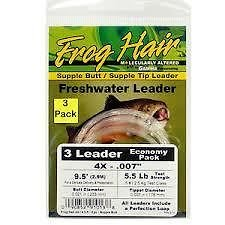 (Frog Hair Supple Butt Supple Tip Leader 9'.5