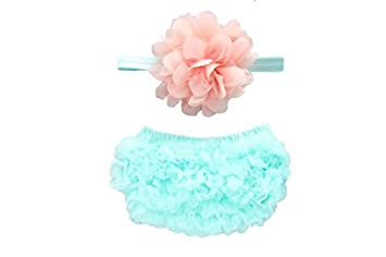 c2d3f27d5 Amazon.com  Piper La Rue Ruffle Bloomer   Lace Flower Infant ...