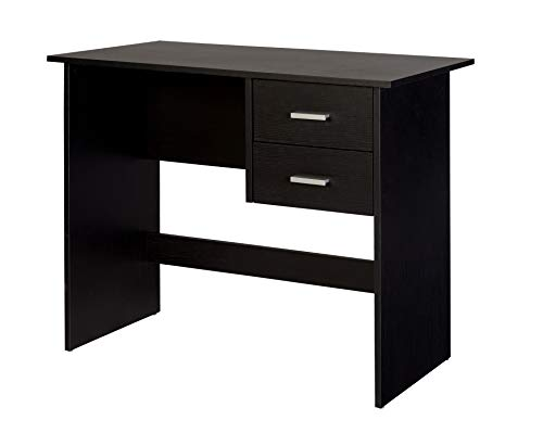 OneSpace 50-700505 Adina 2 Drawers Writing Desk Black ()