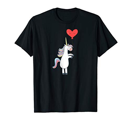 Unicorn Balloon Love Heart Valentines Day Gifts Shirts