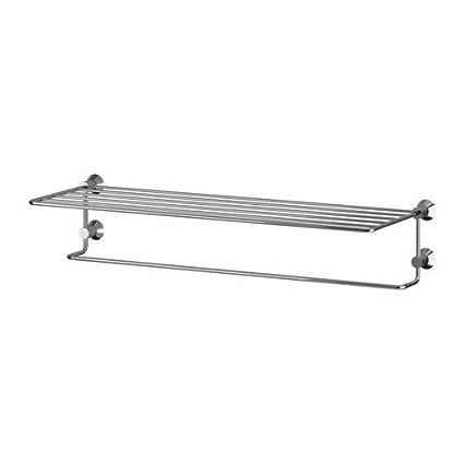 IKEA SAVERN - Toalla colgador / estante, cromado