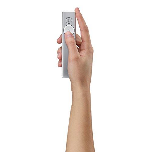 Logitech Spotlight presentazione telecomando (wireless per presentazioni, USB, Bluetooth, Magnify sullo schermo, portata 30m)–argento portata 30m)-argento