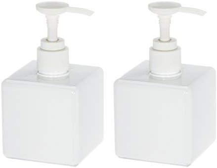 lozioni doccia UVIVIU bottiglia quadrata vuota per disinfettante per le mani plastica shampoo bianco 250 ML dispenser di sapone in plastica per bagno e cucina