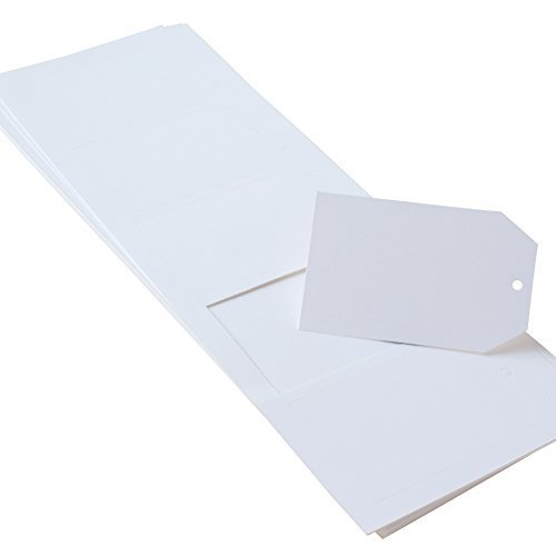 (Paper Frenzy White Large Tags 2.5