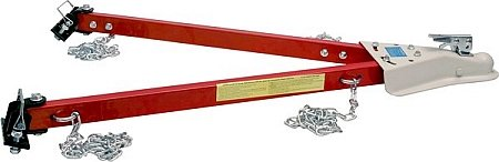 Big Roc TDB Adjustable Bumper-Mount Tow Bar with 2 Chains (Adjustable Tow Bar)