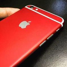 best website 5b621 d6760 Skin World Full Body Matte RED Skin for Apple iPhone 6 PLUS/6S Plus