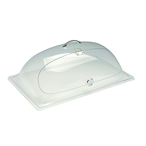 "Bakery Tray Dome with Hinge Green Tint Acrylic 20""L x 12""W x 7 1/2""H"