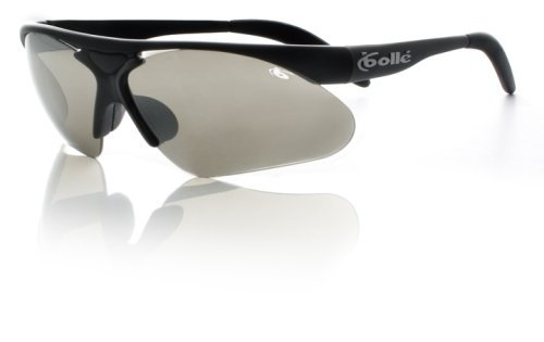 Bolle Performance Parole Sunglasses (Matte Black/A-SES Lens Set (TNS Gun, Vermillon, Dark Cinnamon, Clear)) by Bolle