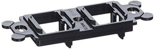 Panduit CF1064BLY 4-Port 4-Module Space Plastic Module Frame, Black