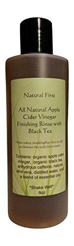 Natural First Organic Apple Cider Vinegar Finishing Rinse w/ Black Tea for Shedding/Hair Loss (DHT Blocking) 8oz