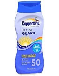 - Coppertone UltraGuard Sunscreen Lotion SPF 50 - 8 oz, Pack of 4