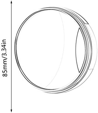 BianchiPamela Car Blind Spot Mirror Wide Angle Mirror 360 Rotation Convex Rear View Mirror
