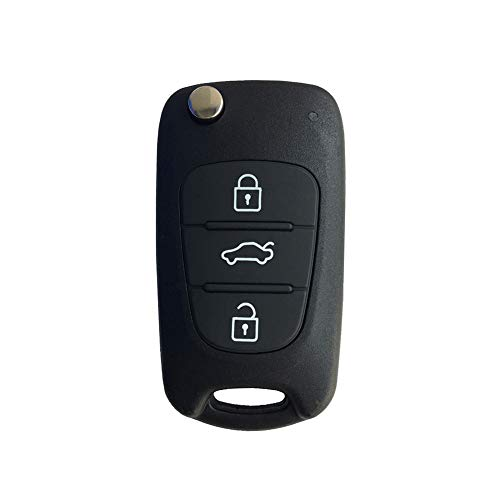 (YUSHHO56T Car Key Shell Ignition System Key Shell Replacement Flip Car Key Shell for KIA K2 K5 Sportage Cerato Rio Remote Case - Black)