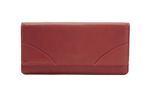 (Tusk Donington Napa Gusseted Clutch Wallet, Red, One Size)