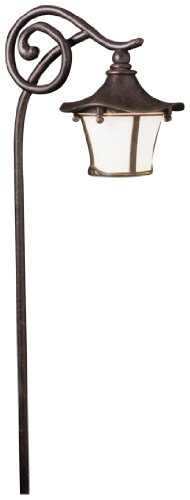 Kichler 15420AGZ Cotswold Path & Spread 1-Light 12V, Aged Bronze