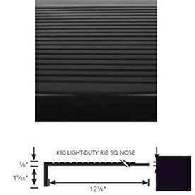 Black Stair Tread Rubber Square Nose 42