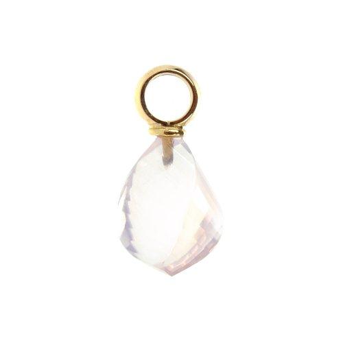 Pendentif quartz rose sur or jaune