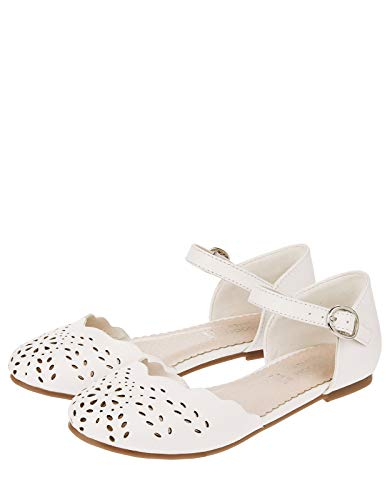 Monsoon Two Part Cutwork Bridal Shoe - US 4 Shoe Ivory from Monsoon
